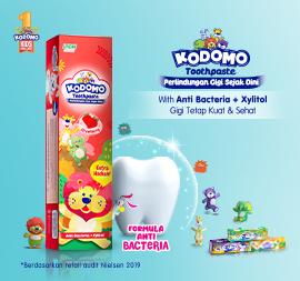 """Jaga kesehatan Gigi Anak Sejak Dini Dengan New Kodomo Toothpaste  With """" Formula Anti Bacteria"""""""
